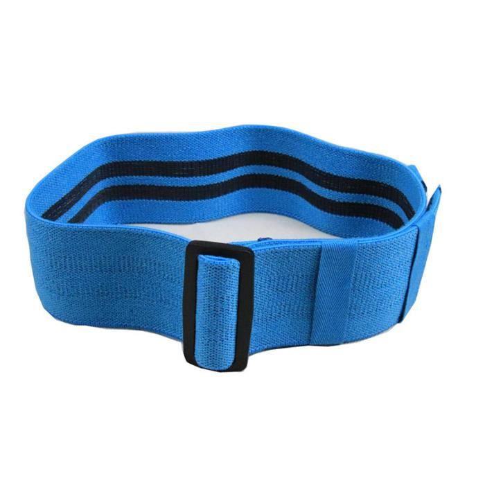 Elastique de Resistance Bande de Musculation Fitness Reglable Bleu