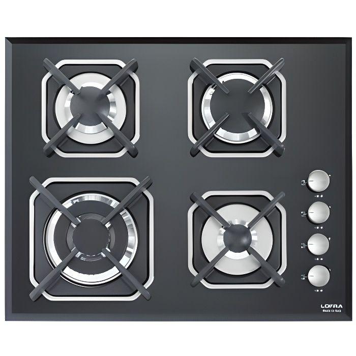 LOFRA HGN6H0 Mercury 60 noir plaque de cuisson 60CM valved FINITION EN VERRE - 4 Les brûleurs à gaz vannes dans une TRIPLE CO