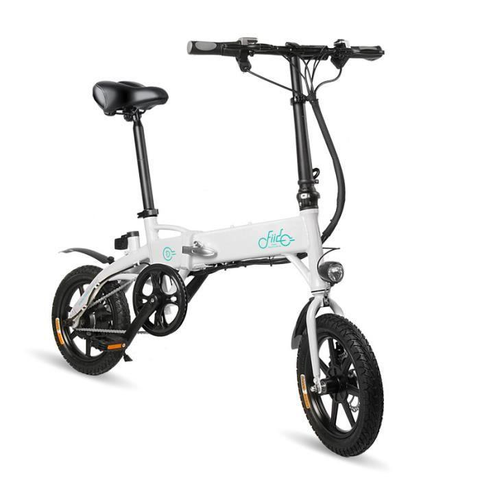 Velo Assistance Electrique Cyclomoteur-FIIDO D1 E-Scooter VTT adulte -Vélo électrique Ebike pliant-250W-25km/h LCD 30 degrés pliabl