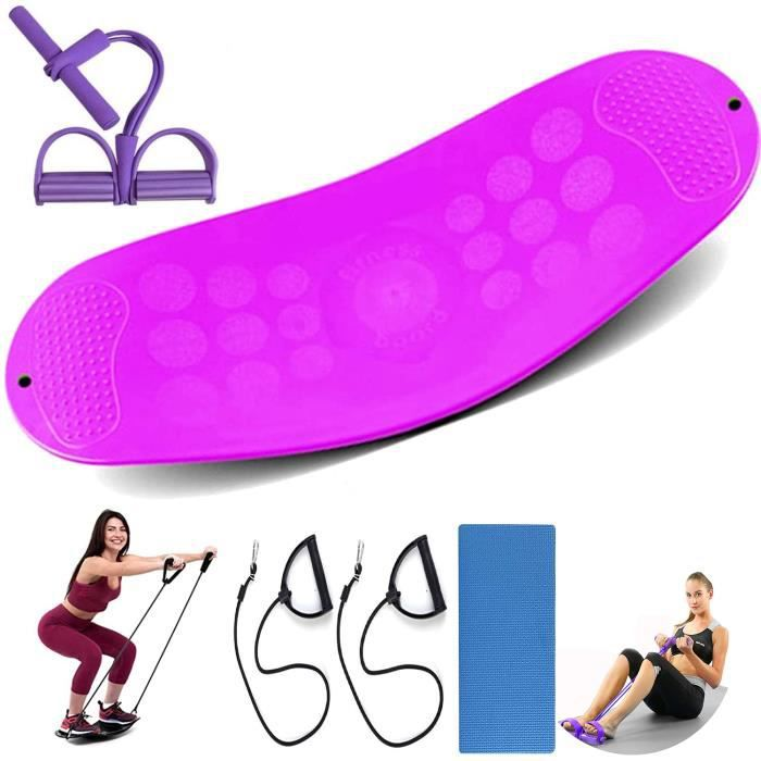 NightyNine Fitness Balance Board Comprenant tapis et bandes d'entraînement, Yoga Gym Workout Training Easy Fit Board pour l'entraîne