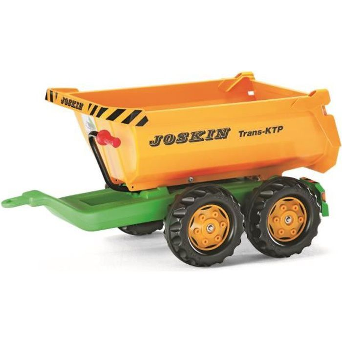 ROLLY TOYS Rolly Halfpipe Joskin Remorque pour Tracteur à Pédale Enfant