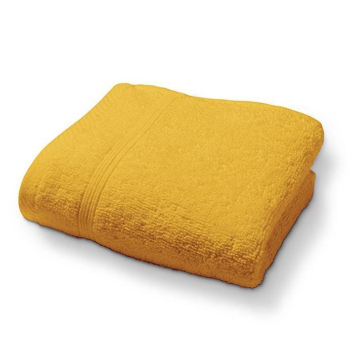 TODAY Drap de bain - 100% coton 500 g/m²- 70 x 130 cm - Jaune safran