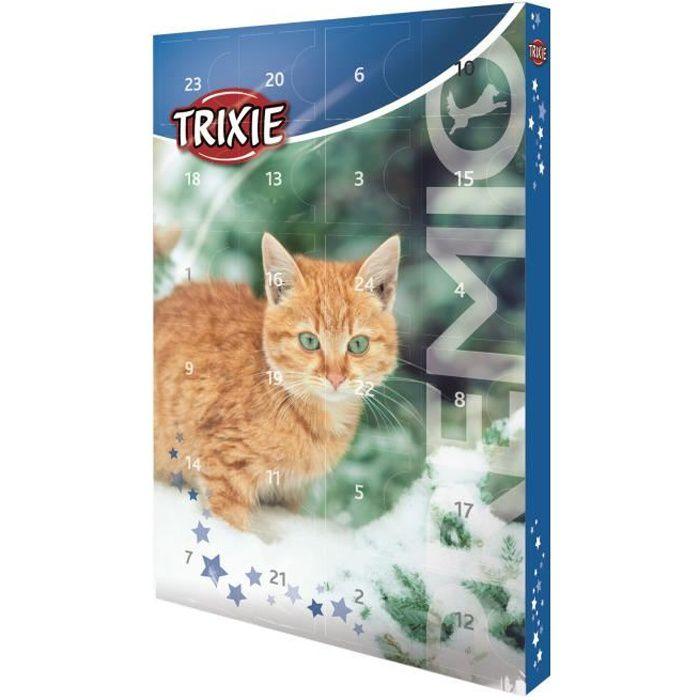 TRIXIE Calendrier de l'Avent Premio - 24 délicieuses friandises pour chats - 24,5 × 37 × 3,5 cm