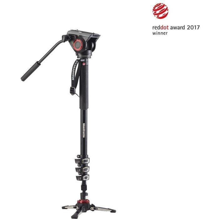 MANFROTTO - MVMXPRO500 - Monopode Vidéo MVMXPRO500 avec rotule vidéo MVH500AH - Noir