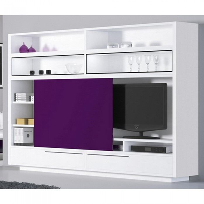 meuble design tv campanule couleur blanc mati r achat. Black Bedroom Furniture Sets. Home Design Ideas