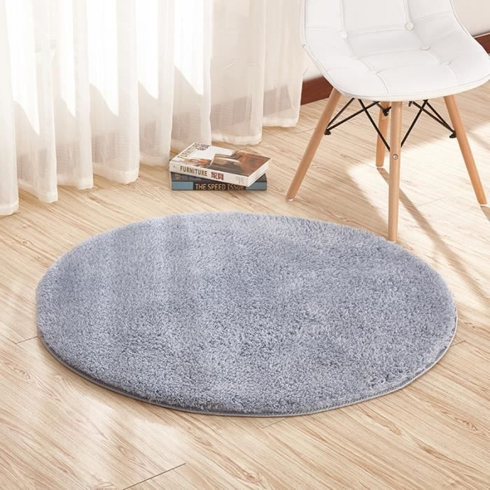 gris tapis salon carpet tapis chambre rond tapis shaggy yoga moquette anti d rapage absorbant. Black Bedroom Furniture Sets. Home Design Ideas