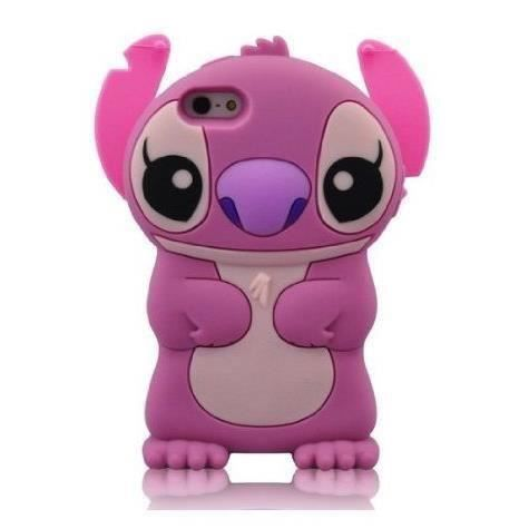 Coque housse etui iphone 5 5s lilo stitch rose achat for Housse iphone 5 c