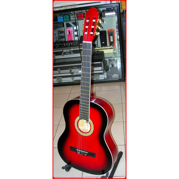 guitare classique rouge adulte 4 4 achat vente guitare. Black Bedroom Furniture Sets. Home Design Ideas