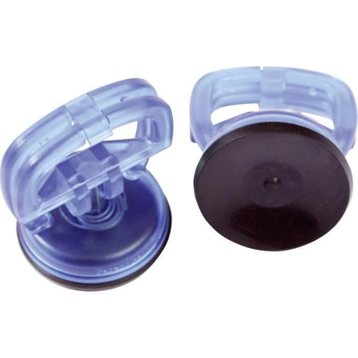 2 x 55mm Mini ventouses tasses 15kg levage de vitre de qualité