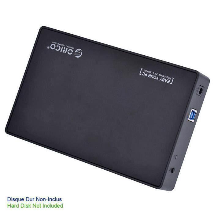 Coulissant Boîtier Disque Dur Externe SATA 3.5/'/' USB 3.0 3588US3
