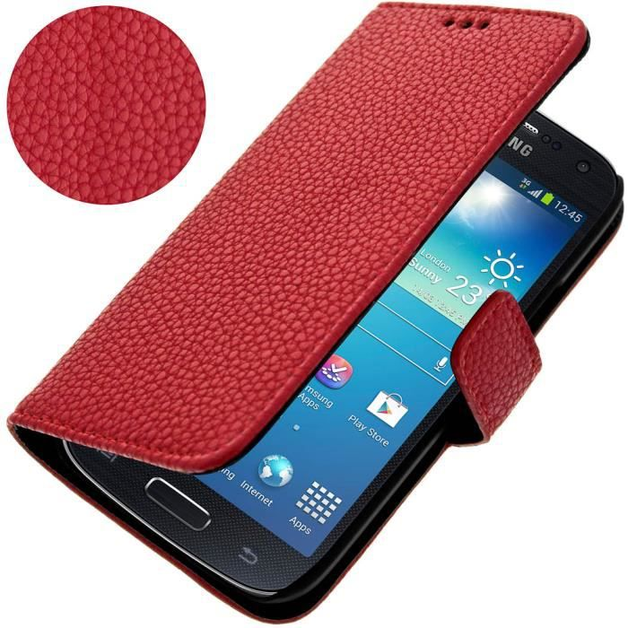 etui support samsung galaxy s4 mini rouge achat housse. Black Bedroom Furniture Sets. Home Design Ideas