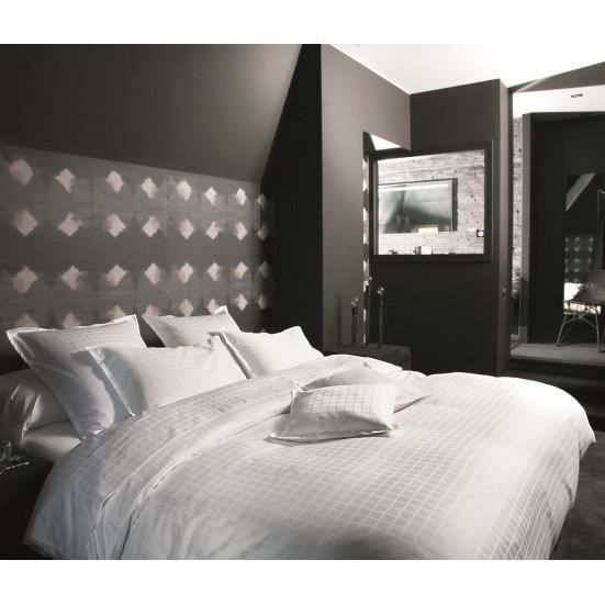 palace blanc housse de couette 240x220 achat vente housse de couette cd. Black Bedroom Furniture Sets. Home Design Ideas