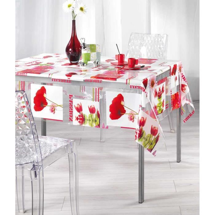 Nappe de table rectangulaire plastique table de cuisine - Nappe de cuisine rectangulaire ...