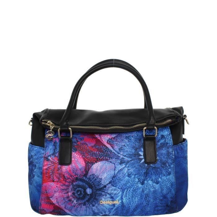 sac main desigual ref des41347 bleu bleu achat vente sac main desigual soldes d s le. Black Bedroom Furniture Sets. Home Design Ideas
