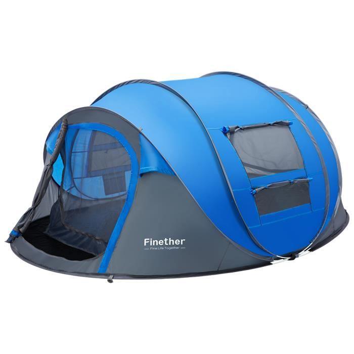TENTE DE CAMPING Finether Tente Extérieure Imperméable pour Famille
