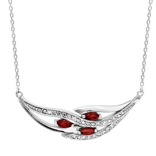 collier femme pierre rouge