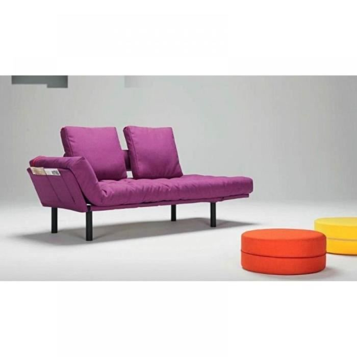 Canap lit design rollo fuchsia convertible 200 8 achat for Canape lit design