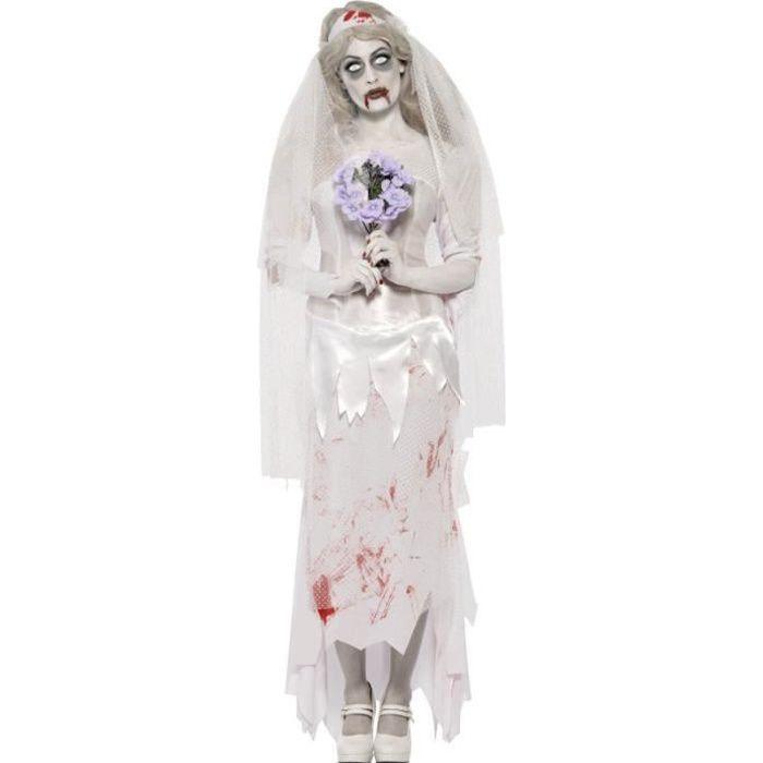 Le jour des morts Voile Cadavre Mariée Roses mexicain Halloween accessoire robe fantaisie