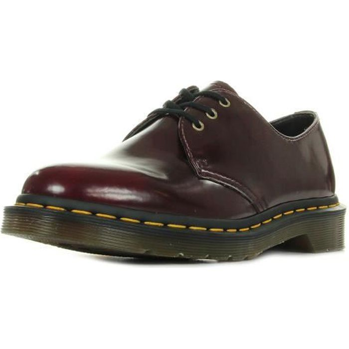 Chaussures Dr Martens Vegan 1460 Cherry Red Cambridge Brush