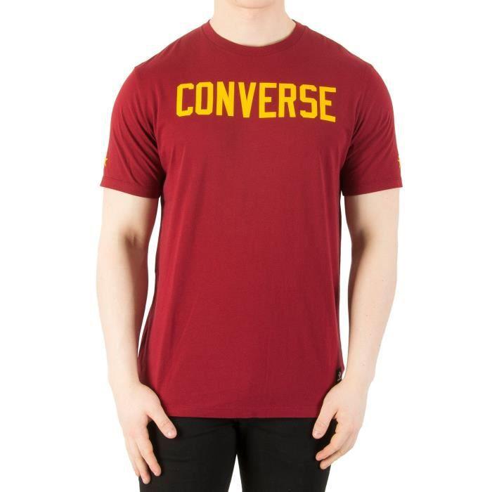 Converse Homme T-shirt graphique, Rouge Rouge - Achat ...