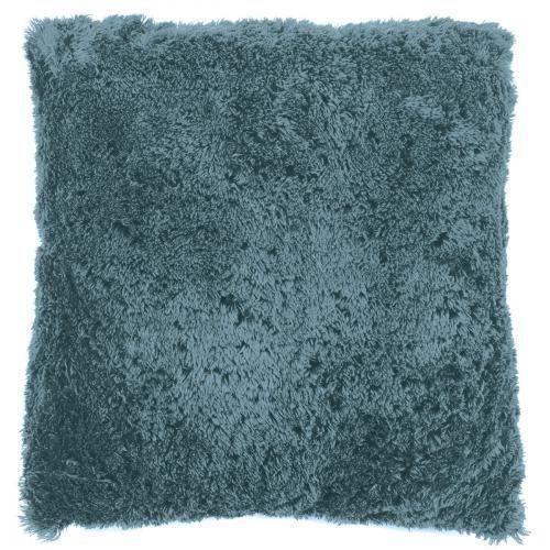 COUSSIN Coussin Fluffy 45 x 45 cm Bleu Pastel