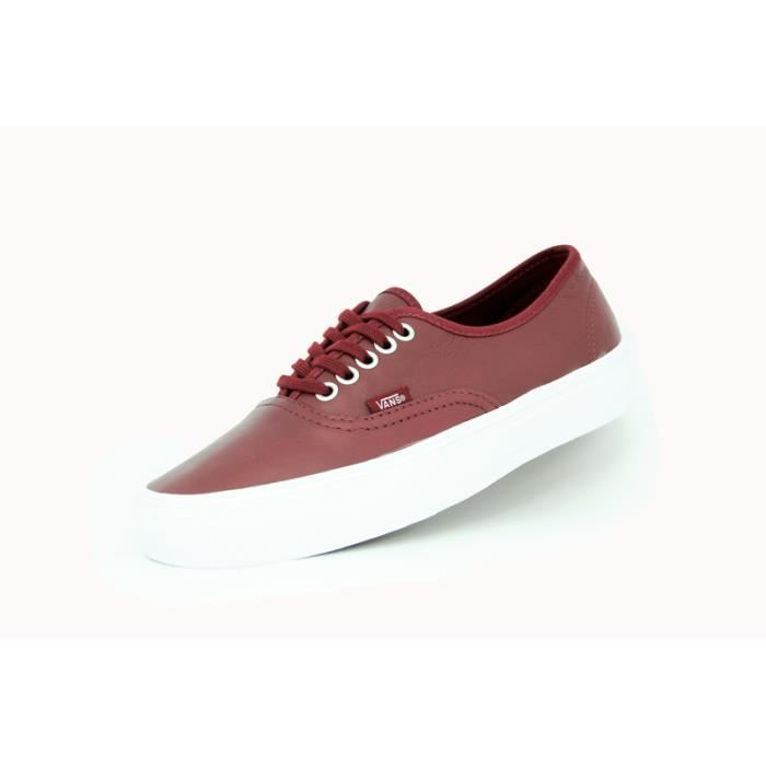 Vans authentic rouge mixte chaus...