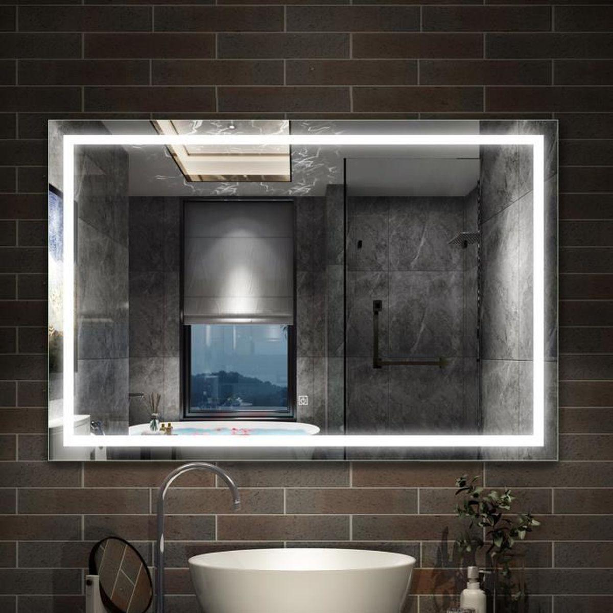 Miroir de salle de bain anti-buée 20x20cm - Achat / Vente miroir