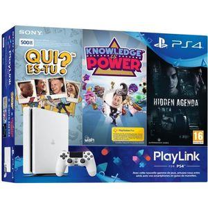 CONSOLE PS4 Console PS4 Slim 500Go Blanche/Glacier White + Qui