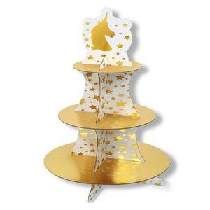 Support Pr/ésentoir /à cupcakes muffin cupcake Parti 3//étages Sapin de No/ël en Carton