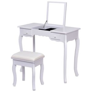 COIFFEUSE Table de Maquillage Coiffeuse Moderne avec Taboure