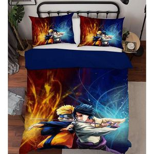 HOUSSE DE COUETTE ET TAIES 3D Naruto 3308 Japan Anime Game 200x225 cm + 2 tai
