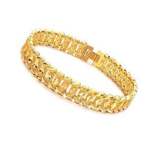 BRACELET - GOURMETTE Bracelets hommes en or plaqué or 18k nouveau desig