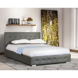 lit complet sommier matelas adulte 160 200 achat vente lit complet sommier matelas adulte. Black Bedroom Furniture Sets. Home Design Ideas