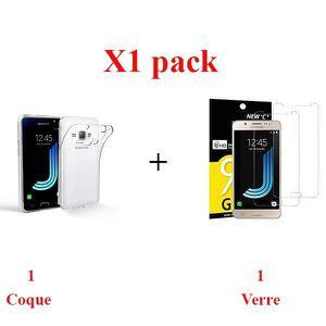 ACCESSOIRES SMARTPHONE X1 Lot, Coffret verre+coque Samsung J5 2017 Sans b