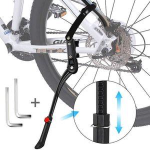 noir Kickstand réglable pour vélos à vélo de 20 po à 27 po 700C