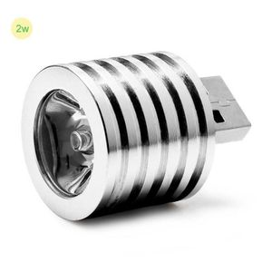 PC ASSEMBLÉ 2W lampe de projecteur portable mini USB LED argen