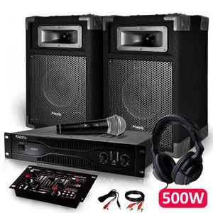 PACK SONO PACK DJ SONO IBIZA Amplificateur 500W + 2 Enceinte