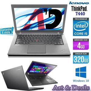 "Top achat PC Portable Lenovo ThinkPad T440 14"" Core i5  HDD 320Go 4Go pas cher"