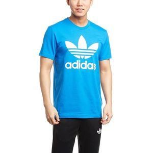 tee shirt adidas homme bleu