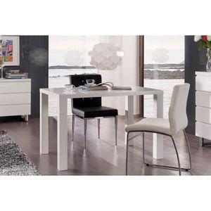 TABLE À MANGER SEULE Table RHODOS blanche laquée. Élégante par son styl