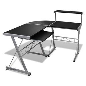BUREAU  Grande table de bureau noire pour ordinateur Burea