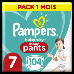 COUCHE PAMPERS Baby-Dry Pants Taille 7, 17+kg,  104 Couch