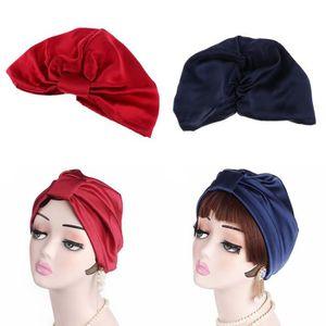 100/% Pure Soie Dormir Casquette Sleeping Bonnet Coiffage protéger Satin écharpes