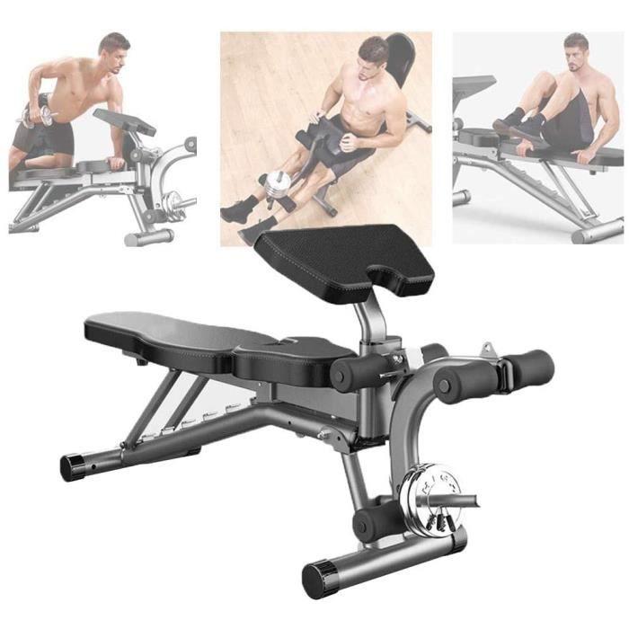 Aocay Banc de Musculation Pliable Multifonction, Sit-Up Banc pour Abdominaux Lombaire, Fitness Banc pour la Maison et la Salle de Sp