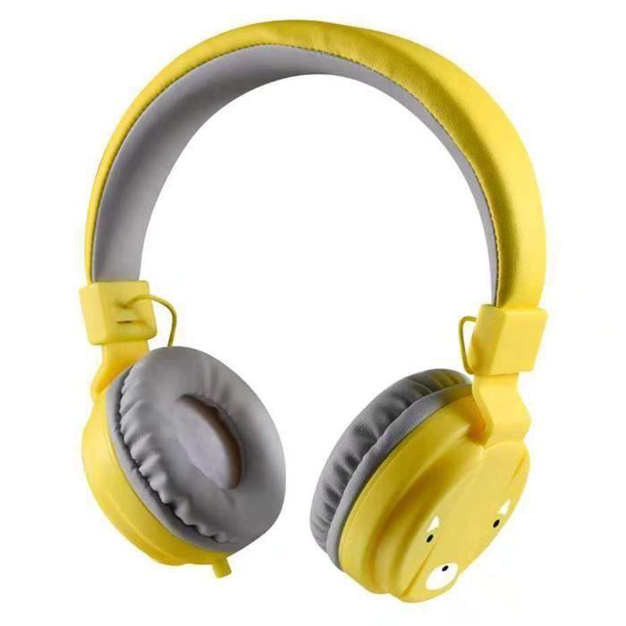 HT Casque Pour Enfants Casque Écouteur Pliable Pour Enfants Casque Filaire De Téléphone Filaire De Contrôle De Fil Pour Fille
