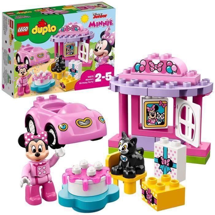 10873 Duplo La Fête d'anniversaire De Minnie Jeu De Construction avec Une Figurine Et Voiture Jouet pour Enfant 2 - 5 Ans