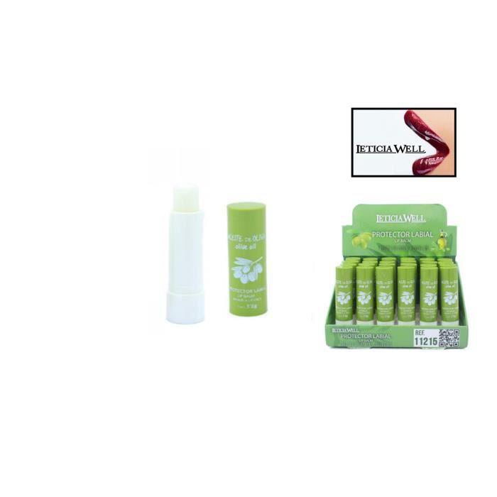 Baume levres soins - Protecteur & Nourrit à base d'huile d'olive - Leticia well
