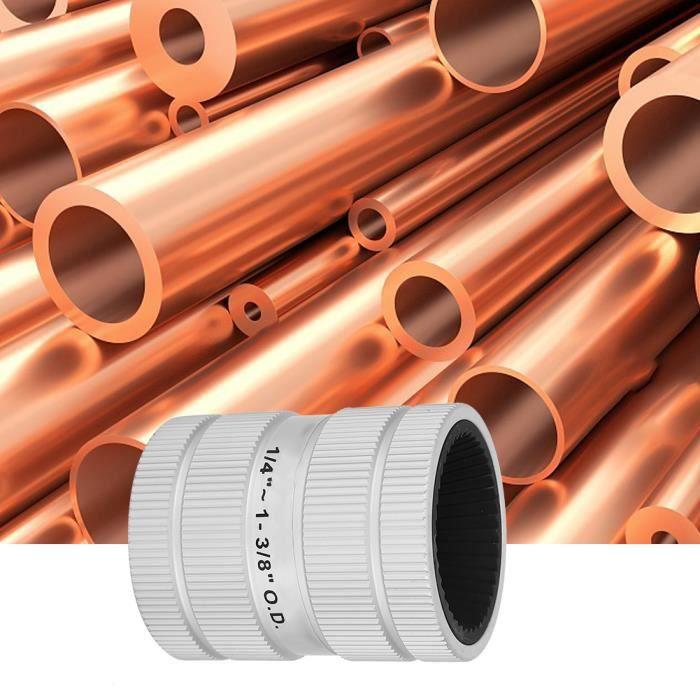 Qiilu outil d'ébavurage de tube Outil d'ébavurage de tuyau d'acier inoxydable d'alésoir intérieur-extérieur Outil de chanfrein
