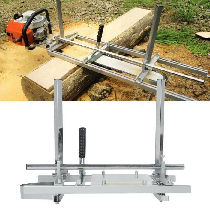 Outil de coupe de travail du bois de cadre de broyeur de tronçonneuse portable en alliage d'aluminium (24 pouces) -FR STOCK