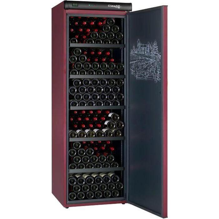 CLIMADIFF CVP265 - Cave à vin de vieillissement - 264 bouteilles - Pose libre - Classe A - L 62 x H 186 cm